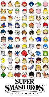 super smash bros ultimate icons