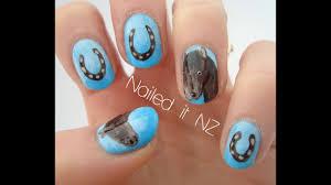 horse nail art tutorial horse nails