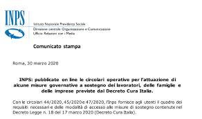 Decreto cura Italia 2020: circolari attuative Inps online, il ...