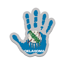 Oklahoma Jeep Wave State Flag Hand Print Ok Vinyl Sticker Decal Rotten Remains High Quality Stickers Decals