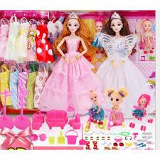 Đồ chơi trẻ em bộ búp bê barbie công chúa đồ chơi bé gái thay áo cưới với  hộp quà tặng -AL chỉ 215.451₫
