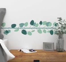 Eucalyptus Leaves Border Wall Sticker Tenstickers