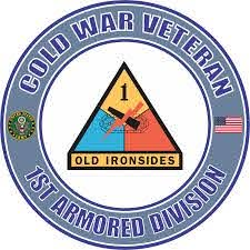 U S Army Cold War 1st Armored Division Veteran Decal Sticker