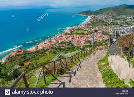 Panoramic view of the Cilento coastline from Castellabate. Campania, Italy  Stock Photo - Alamy