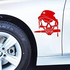 Amazon Com Boilipoint Car Window Decal Truck Outdoor Sticker Fish For Army Skull Bullet In Military Helmet With Shot Hole Car Decal Bumpe Sticker Vinyl Automotive