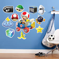 Mario Kart Wii Toad Giant Wall Decal Mario Kart Wii Mario Kart Wall Decals