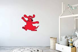 Amazon Com Clifford The Big Red Dog Cartoon Clifford Happy Vinyl Wall Decor Sticker Decal 24 X 22 Toys Games