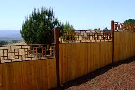 Asian Style Topping On Fence