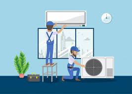 technician repair split air conditioner