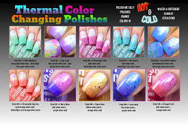 color changing thermal polishes