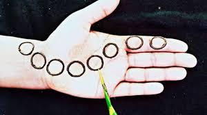 mehandi design simple round