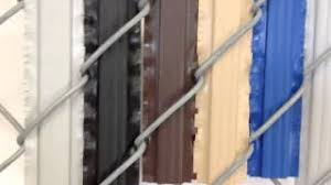 Pds Pexco Winged Privacy Slats For Chain Link Fence Youtube
