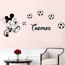 Big Sale 6a04 Cartoon Personalized Custom Name Mickey Mouse Wall Sticker Decals Murals Poster For Kids Babys Room Decoration Bedroom Lw711 Nd Rankingrk Co