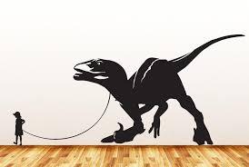 The Decal Store Com By Yadda Yadda Design Co Dinosaur Pet Child With Velociraptor Wall Vinyl Decal Sticker C Y