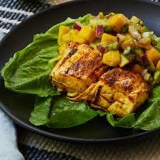 Grilled Halibut with Mango Salsa ...
