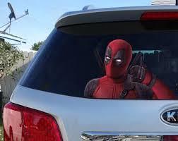 Sticker Deadpool Window Sticker Car Sticker Deadpool Car Decal Funny Sticker Deadpool Car Deadpool Deadpool Stickers