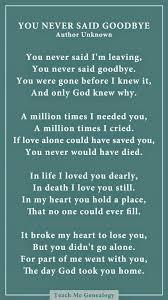 never say goodbye poem com