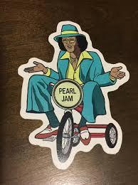 Pearl Jam Sticker Vinyl Decal Rare Backspacer Johnny G