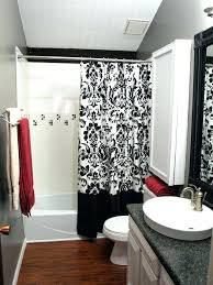 bathroom rug set white grey decor red
