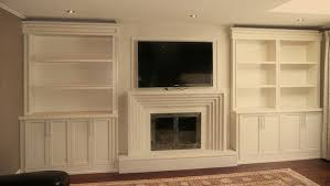 built in units around fireplace