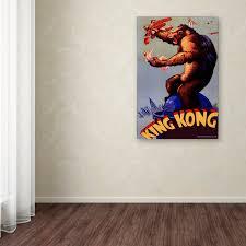 Trademark Art King Kong 1 Vintage Advertisement On Canvas Wayfair