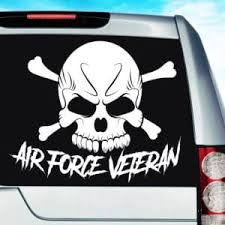 Air Force Veteran Skull Car Truck Window Decal Sticker Military Decal