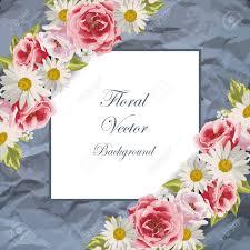 Ilustracion De Un Hermoso Flores Sobre Un Fondo De Papel Arrugado