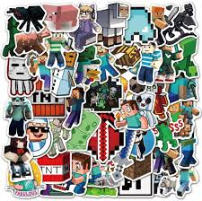 Amazon Com Potota Minecraft Stickers 50 Pack Vinyl Waterproof Stickers For Laptop Bumper Water Bottles Computer Phone Hard Hat Car Stickers And Decals Minecraft Stickers For Laptop Minecraft 50 Toys Games