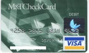 bank card m t check card mandtbank