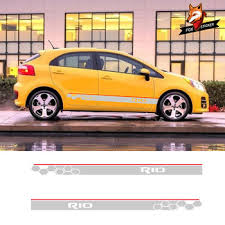 Sides Car Graphics Vinyl Side Stripes Auto Sticker Decals Car Styling Car Sticker Decal Accessaries For Kia Rio Car Styling Buy At The Price Of 15 00 In Aliexpress Com Imall Com