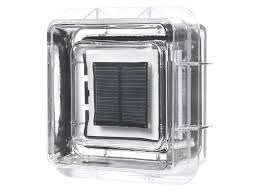 solar powered glass block with light pv