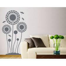 Dandelions With Dragonfly Wall Decal Floral Wall Decal Sticker Mural Vinyl Art Home Decor 3935 Light Brown 17in X 31in Walmart Com Walmart Com