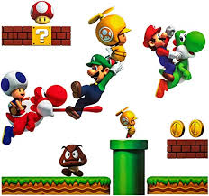 Amazon Com Super Mario Brothers Pvc Removable Wall Stickers Kids Room Decoration Kitchen Dining