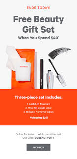 joe fresh free beauty gift set valued