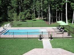 32 Awesome Stylish Pool Fence Design Ideas Inground Pool Landscaping Backyard Pool Landscaping Pools Backyard Inground