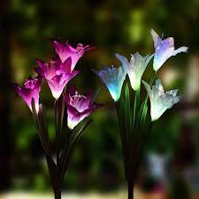 solar garden stake lights luces de flor