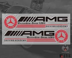 Amazon Com Mercedes Benz Sticker Amg Race Racing Pet Vinyl F1 Logo Sponsor Sticker Decal Side Window Everything Else