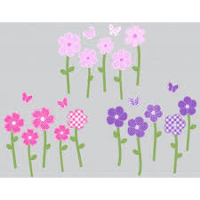Custom Daisy Wall Stickers For Girls Rooms
