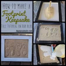sand footprint craft full diy