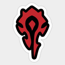 For The Horde Gaming Sticker Teepublic