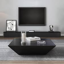 wood coffee table with storage square