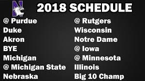 Northwestern 2018 Football Schedule ...
