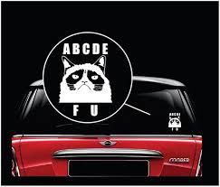 Grumpy Cat Abcd Fu Window Decal Sticker Custom Sticker Shop