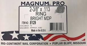 2847192 15 deg ring shank angled coil
