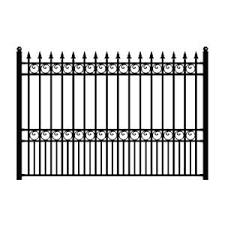 Tuffbilt Cascade Standard Duty 5 Ft H X 6 Ft W Black Aluminum Pre Assembled Fence Panel 73008702 The Home In 2020 Iron Fence Panels Metal Fence Panels Iron Fence