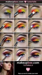 bright eye makeup step by step tutorial