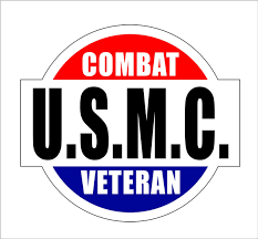2pcs U S M C Combat Veteran Car Bumper Truck Motorcycle Bicycle Graffiti Sticker Waterproof Wish