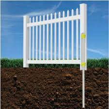 Amazon Com Wambam Fence Bl19101 Nantucket Picket Vinyl Fence 4 H White Garden Outdoor