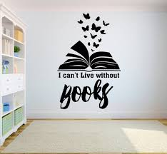 Book Quote Kids Wall Decal Books Quote Reading Room Library Etsy