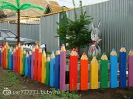 Image Result For Crayon Picket Fencing Za Kindergarten Decorations Preschool Garden Backyard For Kids